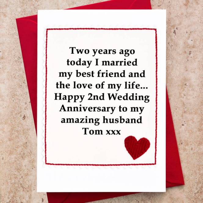 Anniversary Cards Personalised Wedding Card