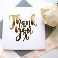thank you card luxe gold by the hummingbird card company ...
