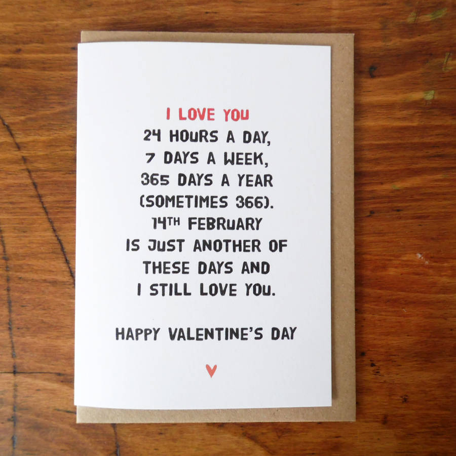 Just Another Day I Love You Valentines Card By Witty