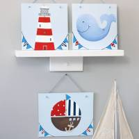 personalised nautical nursery wall art by liza j design ...