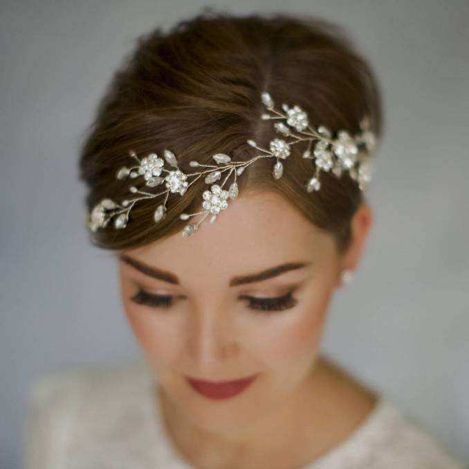 bohemian bridal crystal wedding hair vine sydney