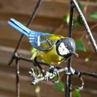 bird feeder with bluetit decoration by london garden ...