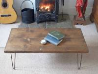 reclaimed scaffold board hairpin leg coffee table by ...