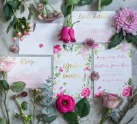 aphrodite floral watercolour wedding stationery set by ...