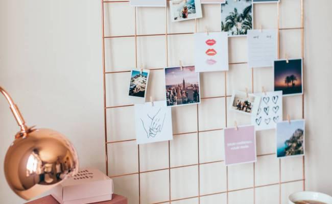 Rose Gold Wall Grid Inspiration Board Wall Decor By Dear