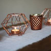 copper geometric candle holder by the wedding of my dreams ...