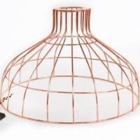 copper parasol wire pendant light shade by frolic and