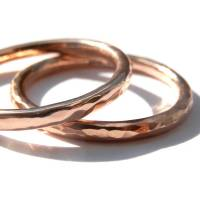 9ct rose gold hammered ring by kirsty taylor jewellery ...