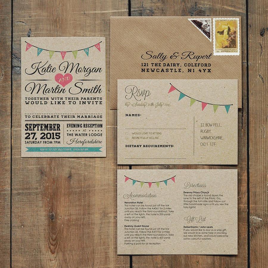 bunting invitations wedding Invitationjpgcom