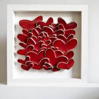 love hearts ceramic wall art by karoart , the clay fable ...