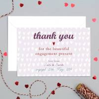 personalised engagement or wedding thank you card by molly ...