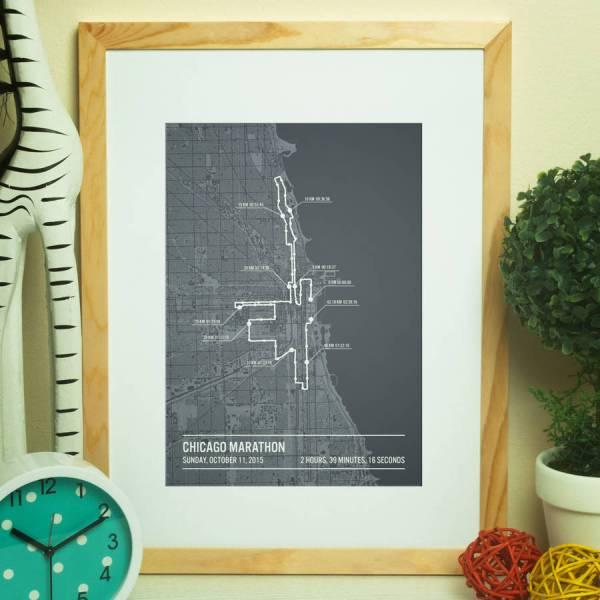 Personalised Chicago Marathon Poster Printmetrics