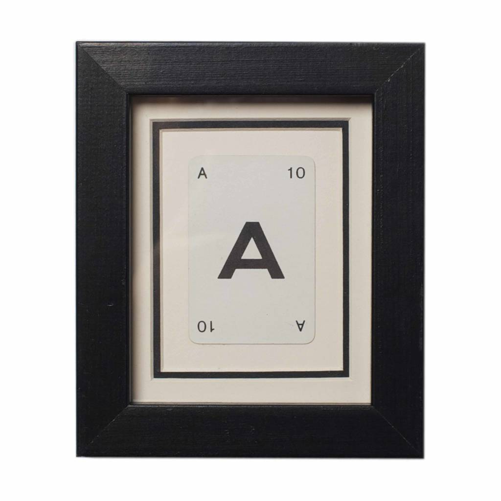 Vintage Playing Card Letter Frames By Vintage Playing