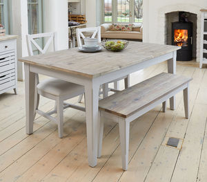 wooden kitchen tables glass top table set industrial dining notonthehighstreet com ridley grey extending