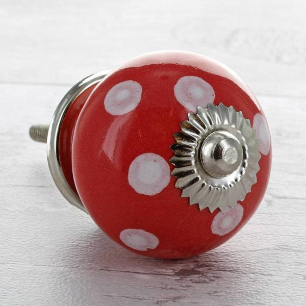 red ceramic door knobs cupboard drawer pull handles by g ...
