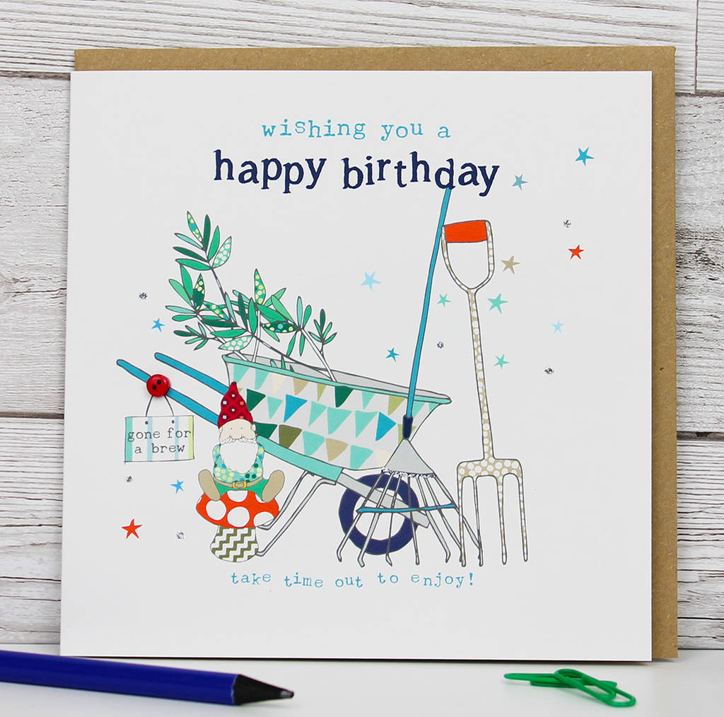 Gardening Or Diy Theme Birthday Card By Molly Mae