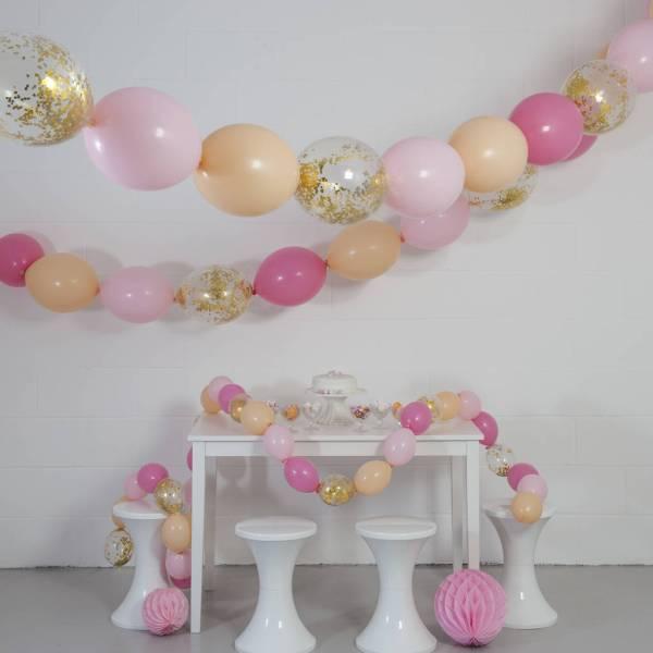 Peach Blossom Balloon Bunting Bubblegum Balloons