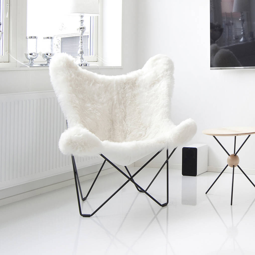 Fur Butterfly Chair Sheepskin Butterfly Chair