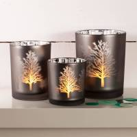 tree silhouette mirror candle holder by thelittleboysroom