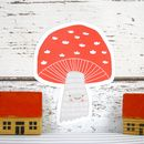 handmade toadstool cushion by hesperoo
