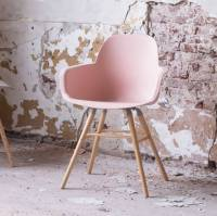 scandinavian blush pink dining chair by ella james ...