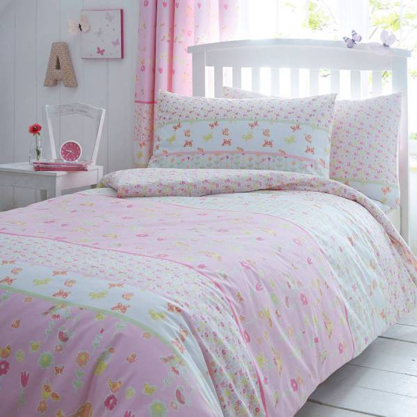 Girls Bedding Pink Stripes