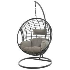 Hanging Chair Notonthehighstreet Office Top View Black Rattan Indoor Outdoor By Ella James