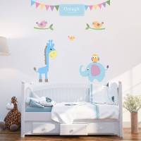 personalised baby boy wall stickers by parkins interiors ...
