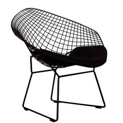 Bertoia Style Chair Lazy Boy Bed A Black Or Chrome Diamond Retro Modern Mesh By