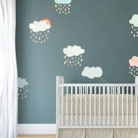 patterned cloud fabric wall stickers by spin collective ...