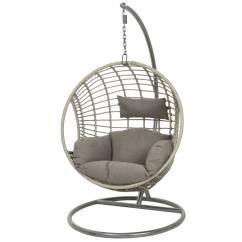 Hanging Chair Notonthehighstreet Portable Massage Reviews Black Rattan Indoor Outdoor By Ella James Grey