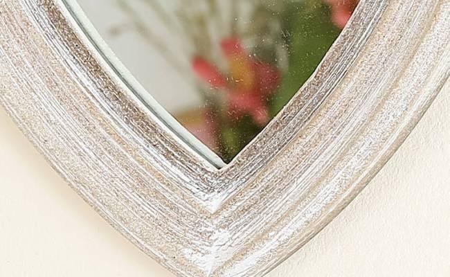 Decorative Heart Shaped Wall Mirror By Dibor