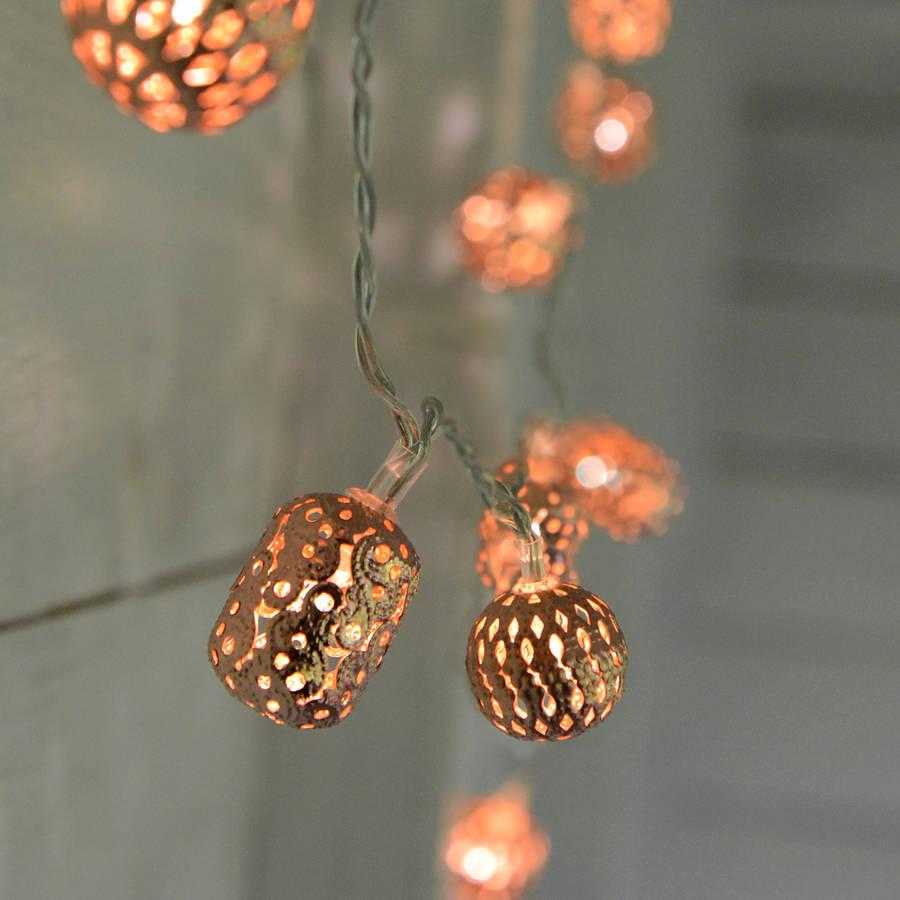 Rose Gold String Lights
