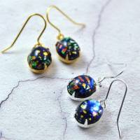 black fire opal earrings in gold or silver by penny ...