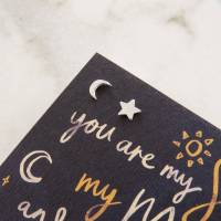 moon and star stud earrings by literary emporium ...
