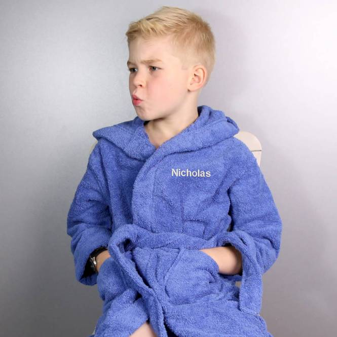 Duck Egg Blue Towelling Dressing Gown - The Best Duck 2018