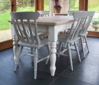 chilmark table with cottage chairs hand painted by rectory ...