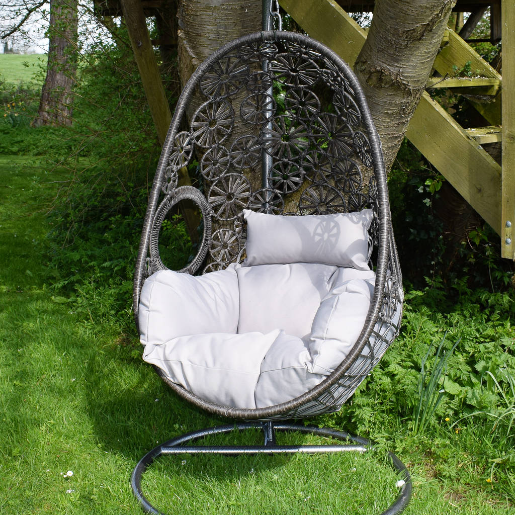 hang around chair cover city oil macrame hanging egg by ella james