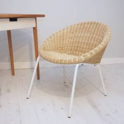 Metal Tub Chair Soft Toddler Wicker With White Legs By Za Homes