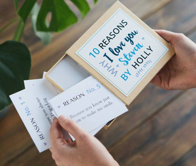 Personalised Reasons I Love You Notes Gifts For Him