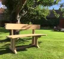 Teak Curved Garden Bench Blackdown Lifestyle