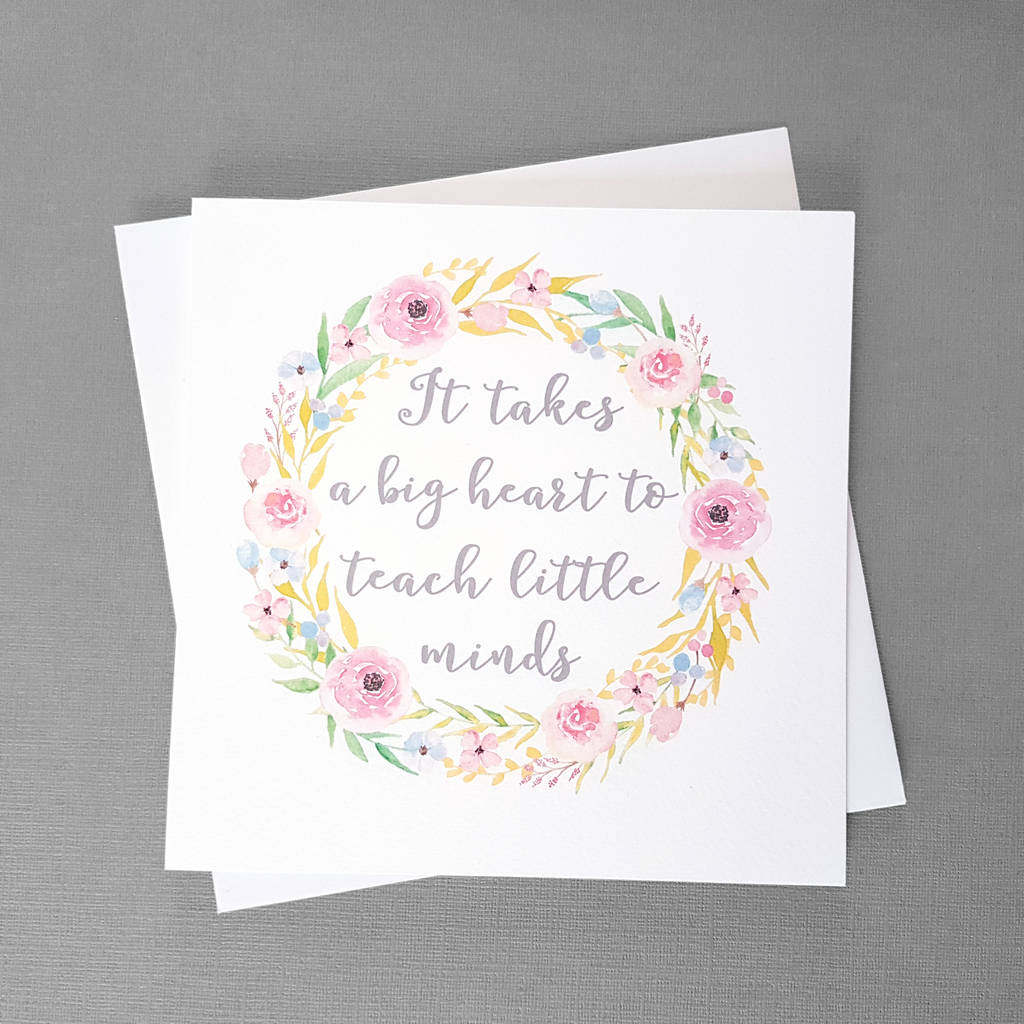 Floral Thank You Card For Teachers By The Best Of Me