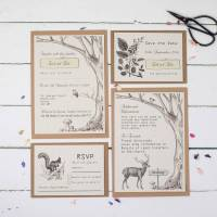 woodland wedding invitation set by talk of the town ...