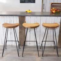 industrial wood bar stool by za za homes ...
