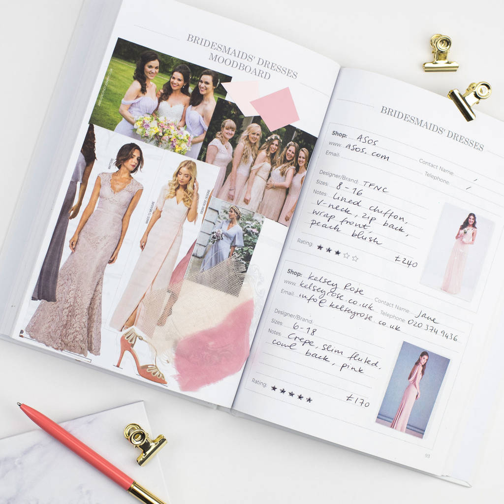 Wedding Planner Book Blush Rose Gold Foil By Blush And