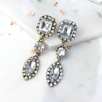 vintage jewel chandelier earrings by junk jewels