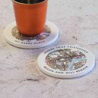 personalised drinks coaster uk map by pushka home ...