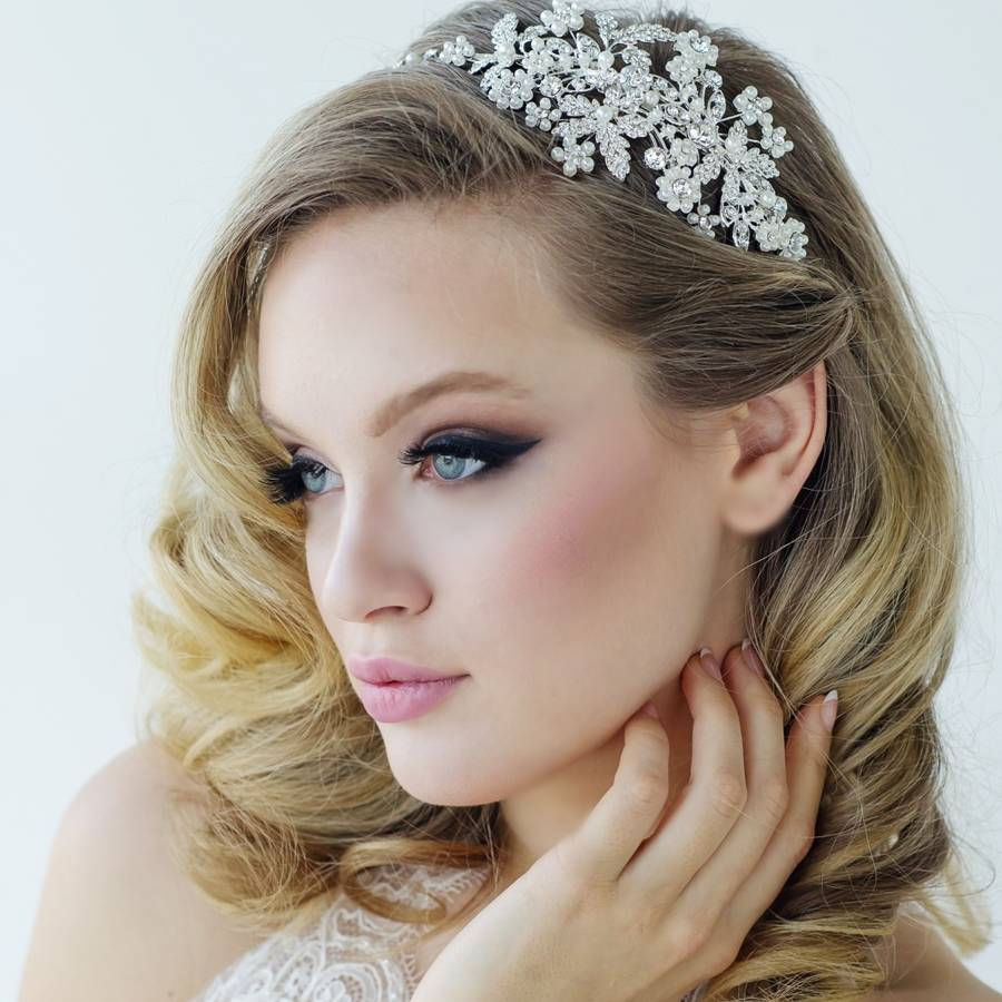 Rosalie Pearl And Crystal Gold Hair Band By Lola Amp Alice