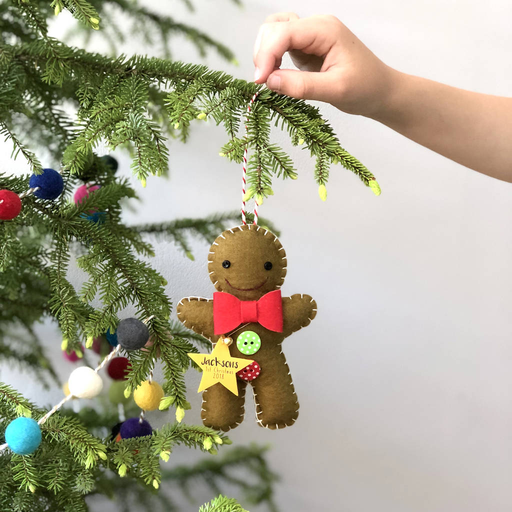 Personalised Gingerbread Man Decoration By Miss Shelly
