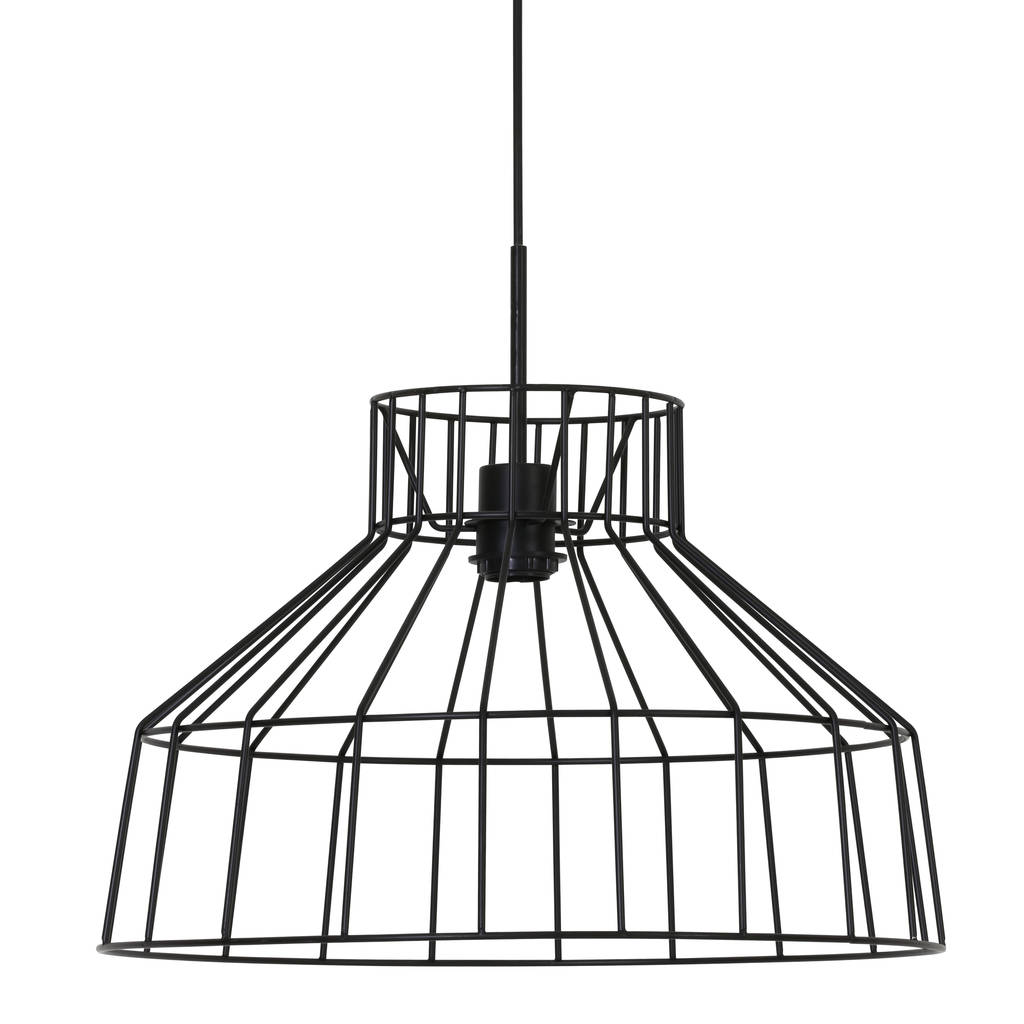 black wire cage hanging lamp by lime tree london